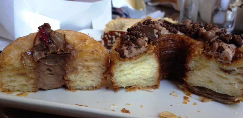 Comparing Cronuts: At Left, Tivoli Bakery's Do-ssant vs At Right, Zumbo's Zo-nut